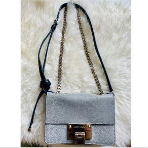 Authentic Jimmy Choo Rebel Crossbody Bag Blue